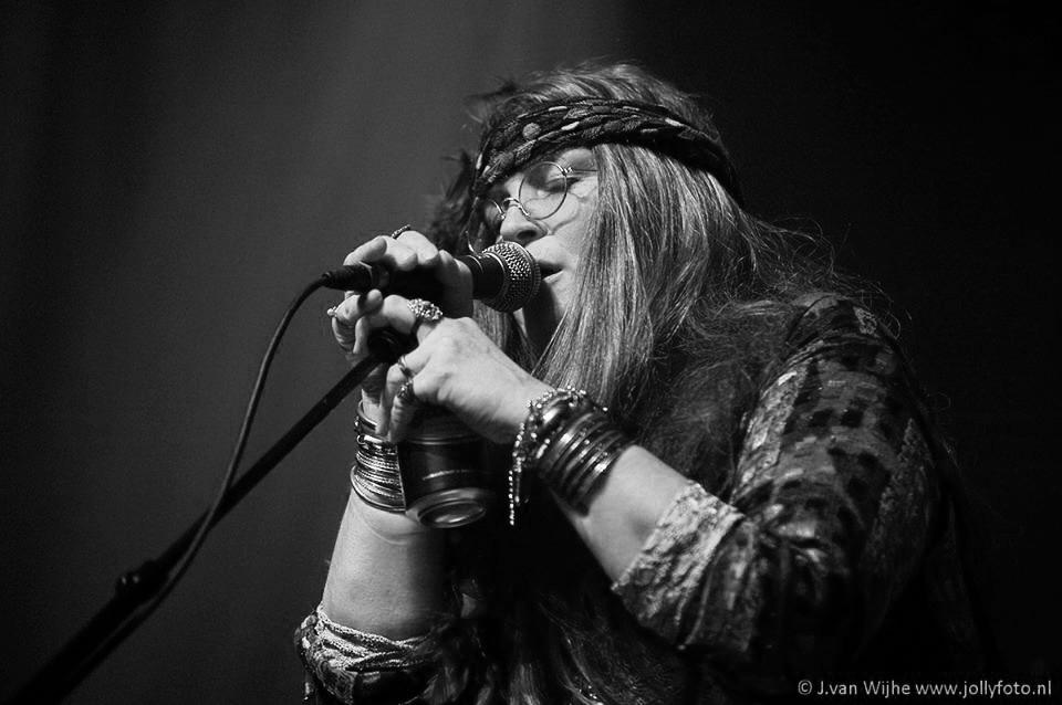 Zangeres Pearl als Janis Joplin